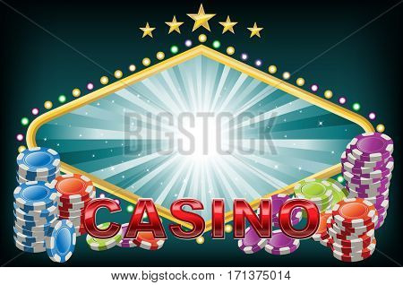 Casino background with empty space for logo