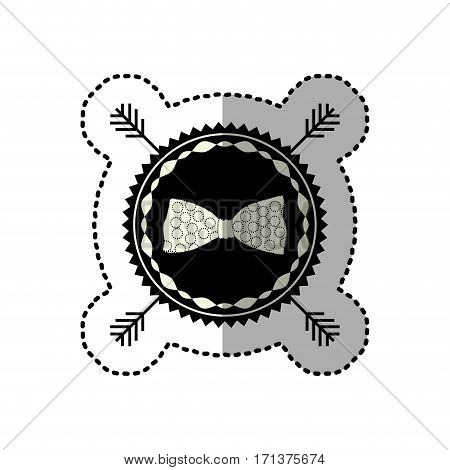 symbol bow icon stock, vector illustration design