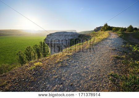 Mountain road lane way path landscape. Composition of nature.