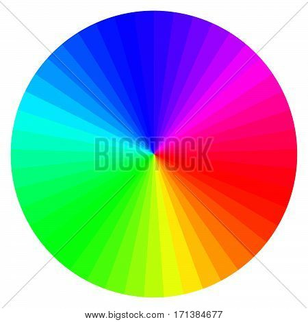 illustration of printing color wheel with different colors