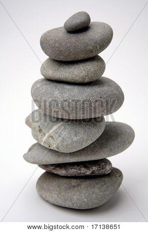 Pile of river rocks balanced