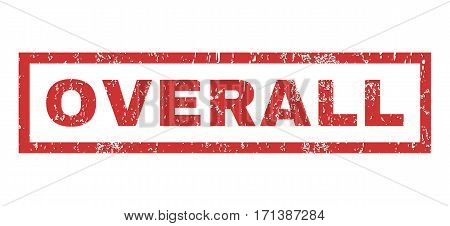 Overall text rubber seal stamp watermark. Caption inside rectangular banner with grunge design and dirty texture. Horizontal vector red ink sticker on a white background.