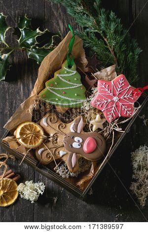 Christmas Handmade Patterned Gingerbreads