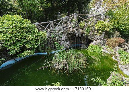 Varese (Lombardy Italy): Giardini degli Estensi historic park at october