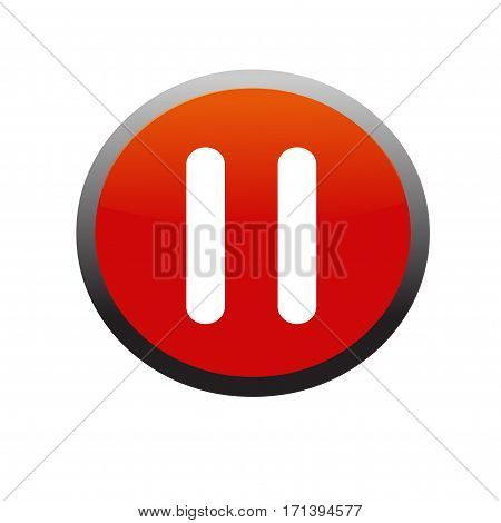 Pause button icon. Isolated on white background.