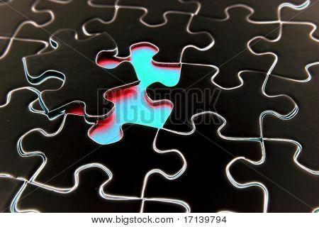 Gap in jigsaw puzzle