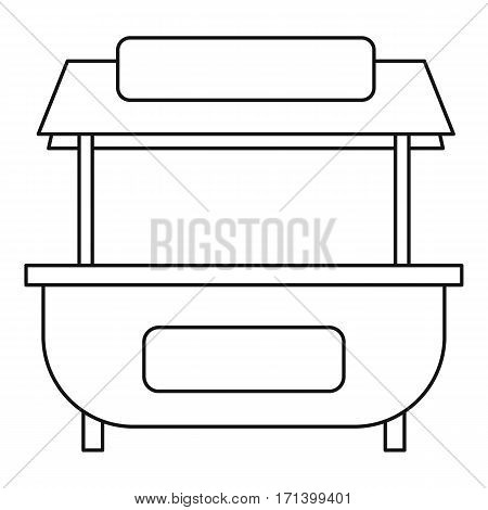 Market stand stall icon. Outline illustration of market stand stall vector icon for web