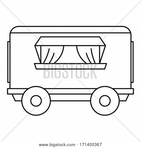 Street food trailer icon. Outline illustration of sreet food trailer vector icon for web