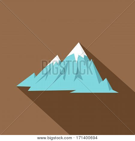 Rocky Mountains icon. Flat illustration of Rocky Mountains vector icon for web isolated on coffee background