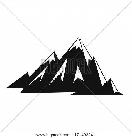 Canadian mountains icon. Simple illustration of Canadian mountains vector icon for web