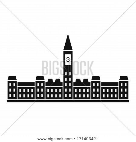 Parliament Building of Canada icon. Simple illustration of Parliament Building of Canada vector icon for web