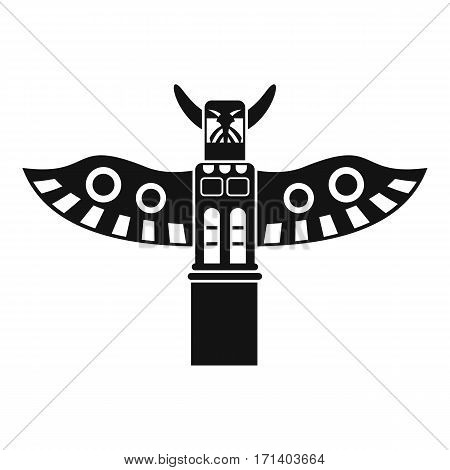 Traditional religious totem pole icon. Simple illustration of traditional religious totem pole vector icon for web