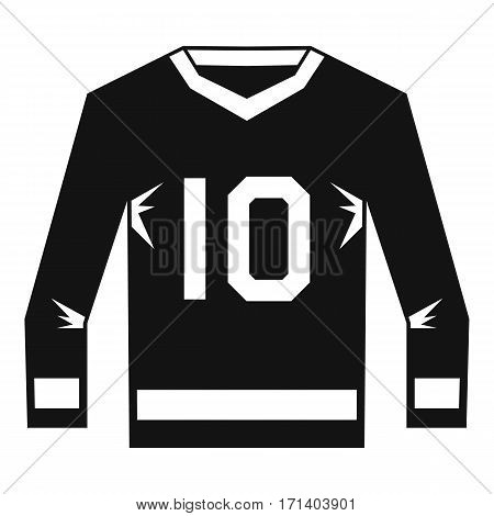 Hockey jersey icon. Simple illustration of hockey jersey vector icon for web
