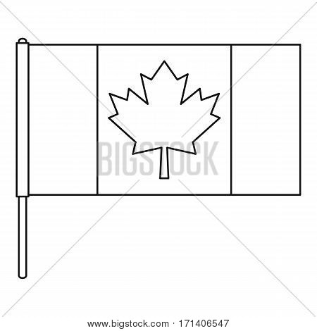 Canada flag icon. Outline illustration of Canada flag vector icon for web