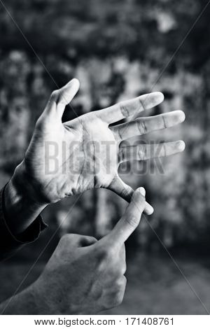 Double handed British Sign Language [BSL] is the predominant sign language of Deaf communities in the United States and most of anglophone Canada.