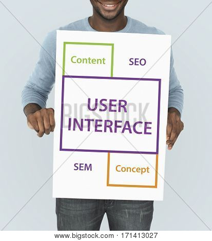 User Interface SEO Content Word Boxes
