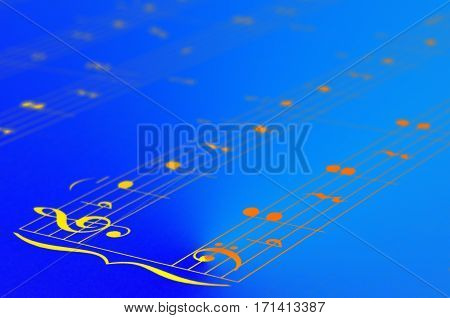 Music Notes Score Background