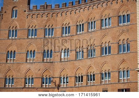 Piazza del Campo in Siena Tuscany Italy poster