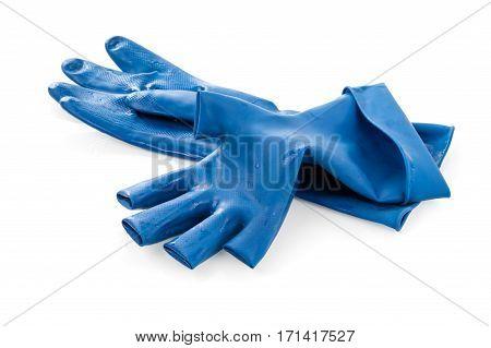 Blue Rubber Glove
