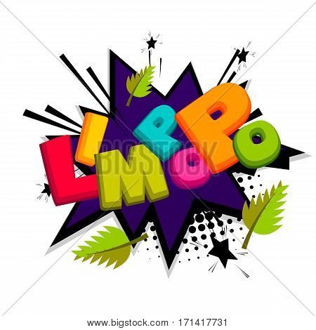 Vector illustration background. Lettering funny comic font Limpopo. Comics book balloon. Bubble icon comic speech phrase. Comic text sound effects. Cartoon tag expression.