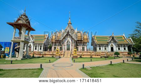 The place for worship Wat Srisa Thong Temple Nakhon Pathom Province Thailand.