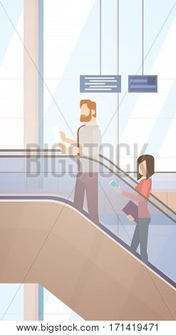 Traveler People Airport Hall Departure Terminal Travel Baggage Bag Suitcase, Passenger Check In Luggage Flat Vector Illustration