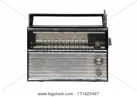 Old radio isolated on white background. vef