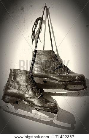 Pair Of Vintage Figure Skates