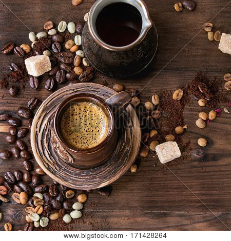 Assortment Of Coffee As Background