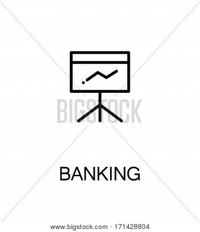 Banking icon. Single high quality outline symbol for web design or mobile app. Thin line sign for design logo. Black outline pictogram on white background