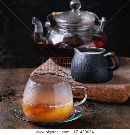 Cup Of Black Tea With Milk