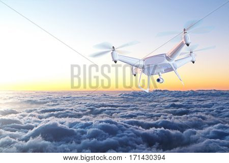 Drone Above Clouds