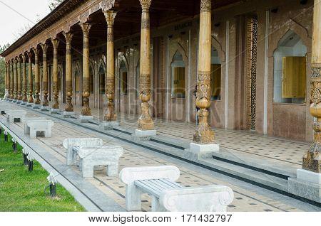 the large Memorial of World War II. Architecture of Tashkent. Uzbekistan