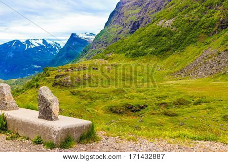 Mountains Landscape In Norway.