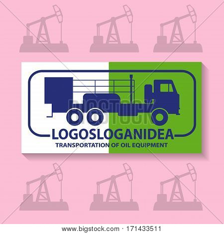 Logo for the oil company. The illustration shows the oil cementing machine.