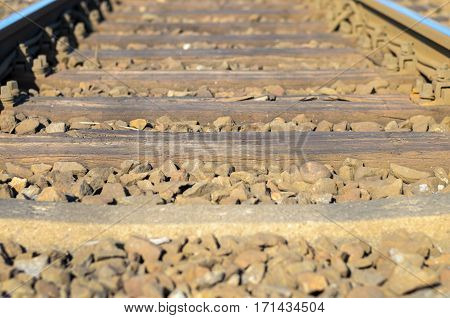 Railroad Sleepers And Stones