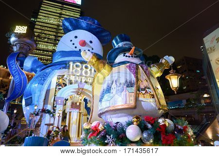 HONG KONG - CIRCA NOVEMBER, 2016: Christmas decorations at 1881 Heritage.