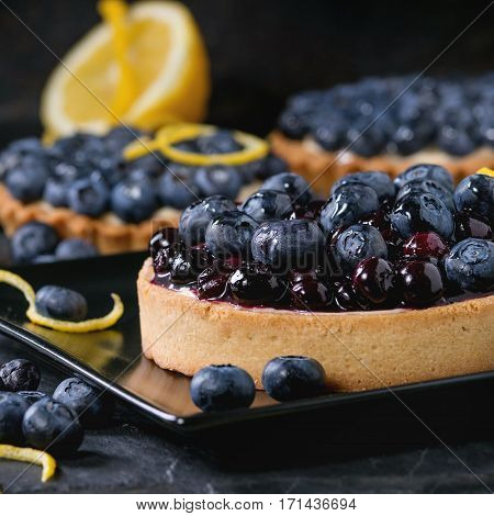 Tart With Blueberries