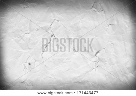 The texture of paper ragged white background vignetting