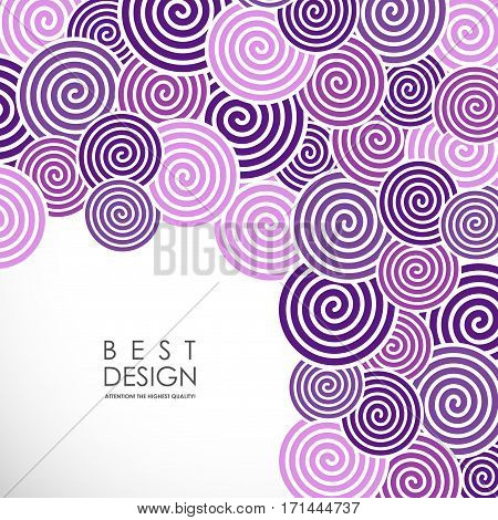 It is an abstract colourful bacrground with spiral elements