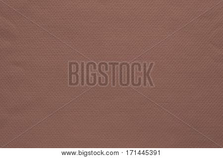 texture and background of fabric or cotton material of brown color