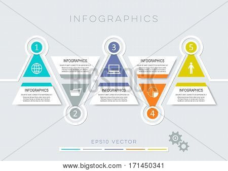 Colorful modern options banners infographic vector design template