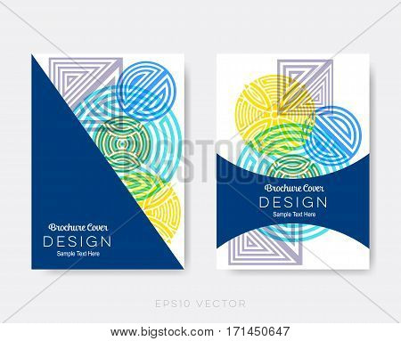 Creative modern brochure design templates abstract vector background