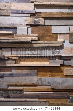 Background of reclaimed timber for a modern rustic look