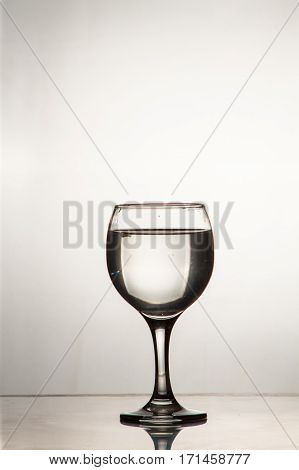 Slice Of Drops In A Glass Of Water