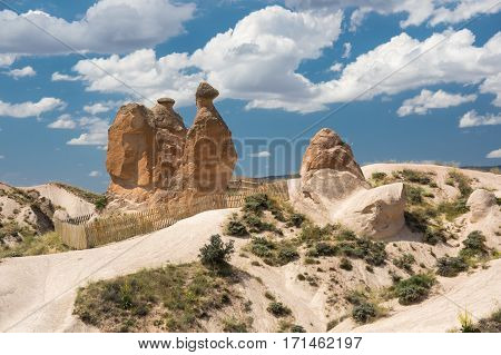 A rock formation known as