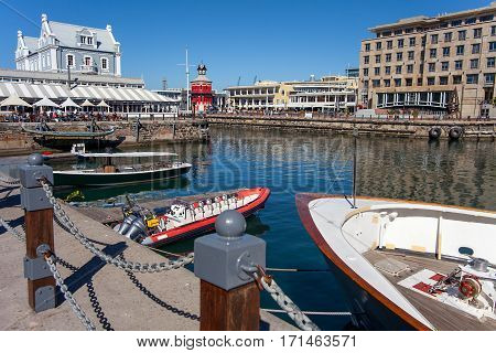 At the waterfront in Cape Town South Africa