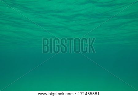 Water Surface From Below. Wide Angle, Convenient As Background