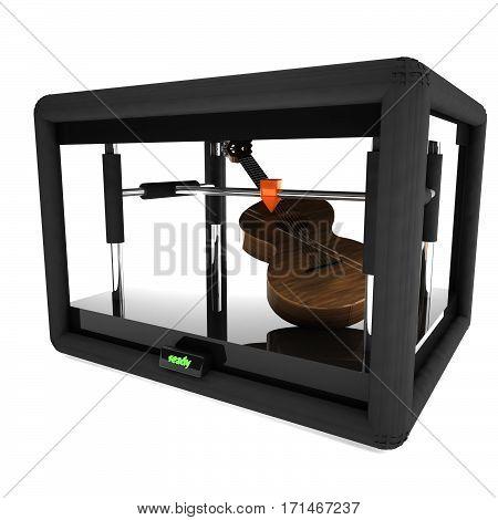 3D Printer Manufacturing A Guitar