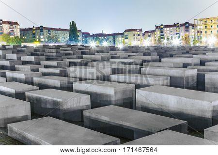 Holocaust Memorial In Berlin, Germany.